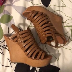 Brown Woven Wedges